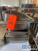 Lot of (12) stainless steel steam table pans 12.5 inch X 21 x 4.25 deep (some 4 inch deep)