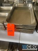 Lot of (11) shallow stainless steel steam table pans, 21 inch x 12.5 x 2.5 inch deep