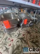 Lot of (26) deep stainless steel steam table pans, 12.5 inch x 21 x 5 inch deep