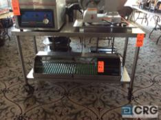 5 foot portable stainless steel work table with under shelf