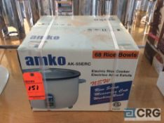 Amko AK-55ERC electric rice cooker, 1 phase, 68 bowl capacity (NEW IN BOX)