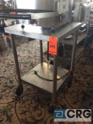 24 X 24 inch portable stainless steel table