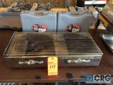 Lot of (2) portable butane gas stoves with fancy station