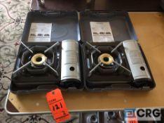 Lot of (2) Chef Master portable butane stoves