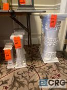 Lot of (7) decorative mini decorative columns