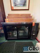 PERLICK 2 sliding glass door back bar refrigerator 2 section, model SDBS60-R, S/N 728264, 5ft (w)