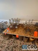 Lot of (14) assorted decorative candle holders