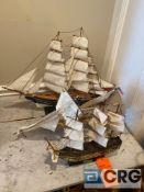Lot of (3) model boats