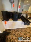 Lot of (2) 200 Watt Bose L1 Compact power speakers with stands and travel bags