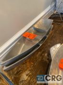 Lot of (2) decorative boat-shaped 3-section platters 28 inches long