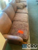 Hickory Chair Furniture Co. leather sofa 7.5 feet long