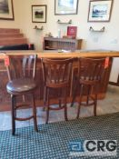 Lot of (3) upholstered bar stools