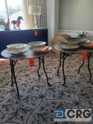 Lot of (3) 36 in. round folding tables