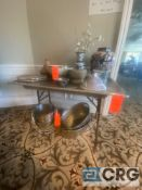 Lot of assorted items including China, ceramics, (8) wine or Champaign buckets, (1) mortar and