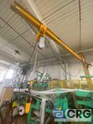 Spanco 15 ft, 1/2 ton jib crane with 1/2 ton Harrington elec hoist and pendant controls