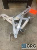 Set of (2) Werner aluminum ladder jacks, short body, 2-rung (40 ft / 300 lb cap)