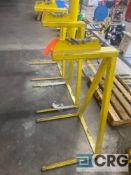 Lot of (3) steel-frame roll lifting fixtures, 26 inch base width X 49 inch (H)