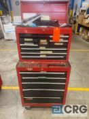 Craftsman 14-drawer rolling tool cabinet with assorted tools