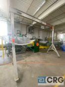 Wallace Gantry MN A210-12 1-ton gantry with 1 ton Harrington hoist, 12 ft. X 4.5 ft. X 118 in. (H)