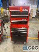 Craftsman 10-drawer rolling tool cabinet with assorted tools