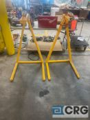 Lot of (2) steel-frame roll lifting fixtures, 30 inch base width X 52 inch (H)