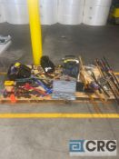 Lot of assorted tools, hand tools, (1) Stanley portable heater, (2) tool carrying cases with
