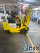 TCM FCG20 NG forklift, solid tire, LP, 3400 lb. capacity, 3-stage 171 inch mast height, 1,324 hours,