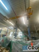 Harrington 11 ft wide 1/2 ton bridge crane with 1/2 ton Harrington chain hoist and pendant