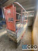 JLG 1930ES electric platform scissor lift, SN 132584, with 500 lb. capacity platform, 25 foot