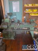 South Bend engine lathe, 17 inch X 40 inch BC, with tail-stock, center rest, compound slide table
