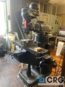 Bridgeport vertical milling machine, SN 59721, 9 X 42 inch T-slot table with power feed, 1HP, 3ph,