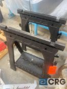 Lot of (2) 1000 lb. capacity sawhorse stands
