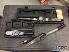 Lot of (3) asst dial torque wrenches, including (1) CDI mn 1753LDFE with case, (1) Armstrong mn 64-
