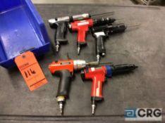 Lot of (5) asst pneumatic screw guns