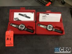 Lot of (2) Jetco ED1-75I digital torque wrenches with cases