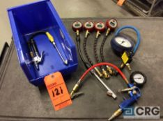 Lot of asst dial and digital air pressure test gages