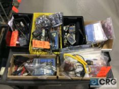 Lot of asst testing probes, adapters, plug-ins, etc