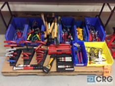 Lot of asst hand tools including hammers, pliers, wrenches, vice grips, etc. (CONTENTS OF PALLET)
