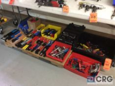 Lot of asst hand tools including ratchets and drives, allen keys, allen screwdrvers, and approx (30)