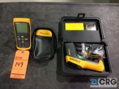 Lot of (2) asst Fluke thermometers including (1) Fluke 54 II and (1) Fluke 561 IR thermometers