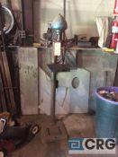 Delta electric pedestal grinder, 1 phase, 10 inch throat