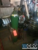 Acetylene torch cart with torch and hoses (NO TANKS INCLUDED)