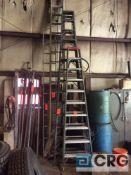 White 14 foot magnesium step ladder