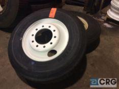 Lot of (2) Bridgestone R195 truck tires