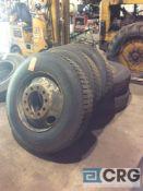 Lot of (5) asst 11R245 truck tires, mounted