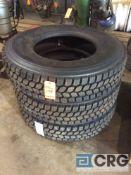 Lot of (3) asst retread 11R225 truck tires