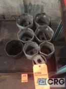 Lot of (8) asst heavy duty sockets