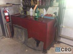 6 foot X 3 foot X 3 foot high steel oil storage tank with hand crank pump