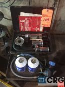 Preasurized cooling system tester and refrigerant testing gage