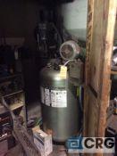 Campbell Hausfeld vertical air compressor, 7 1/2 hp, 2-stage, 80 gal storage tank, (motor HP n/a)
